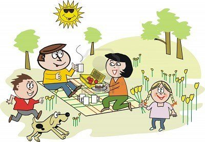 cartoon picnic clip art Quotes