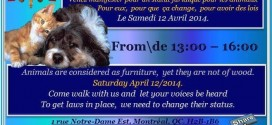 Come and walk for animals! Protest to take place April 12!